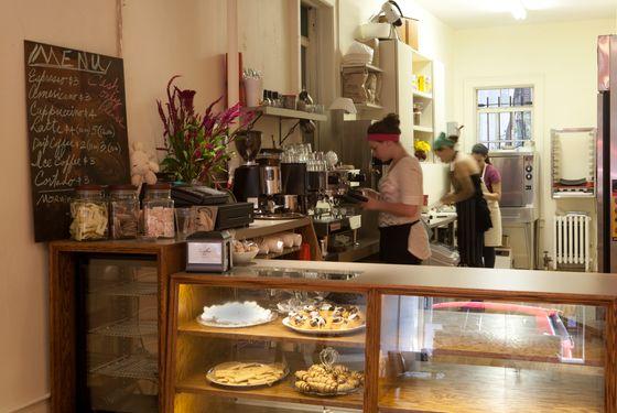 Inside Zucker Bakery.
