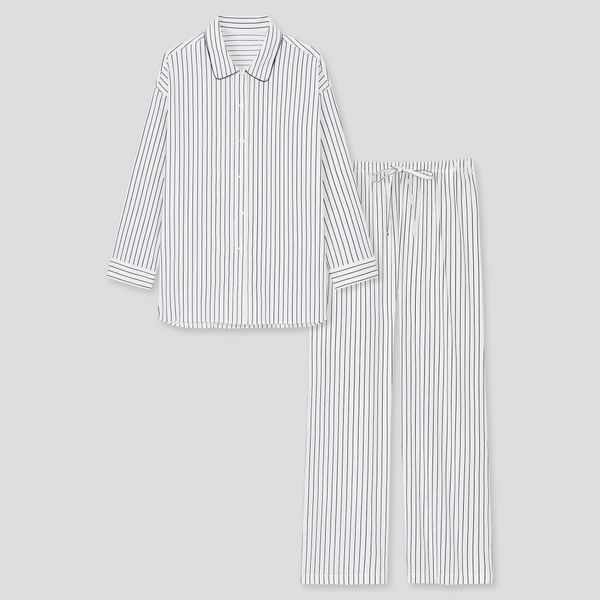 Uniqlo Women Soft Stretch Long Sleeved Pyjamas