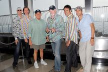 NEW YORK - JULY 29: (L-R) Randell Kirsch, Scott Totten, Bruce Johnston, Mike Love, Tim Bonhomme and Christian Love of the Beach Boys visit  The Empire State Building on July 29, 2009 in New York City. (Photo by Alli Harvey/Getty Images) *** Local Caption *** Christian Love;Randell Kirsch;Scott Totten;Bruce Johnston;Mike Love;Tim Bonhomme