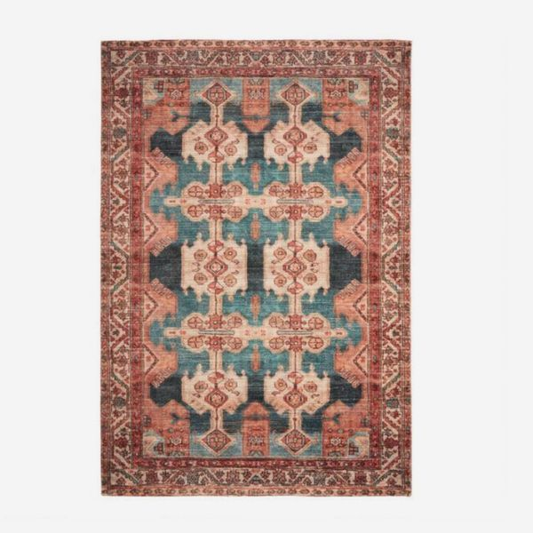 Coral Persian-Style Zara Area Rug