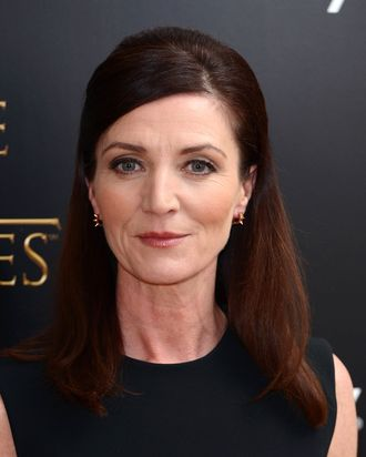 Michelle Fairley attends the season launch of 'Game of Thrones' at One Marylebone on March 26, 2013 in London, England.