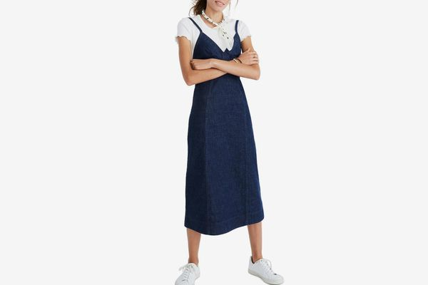 Madewell Denim Camisole Midi Dress