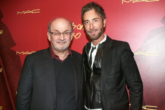 Jean-Marc Houmard and Salman Rushdie.