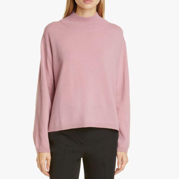 Mansur Gavriel Wool & Cashmere Mock Neck Sweater