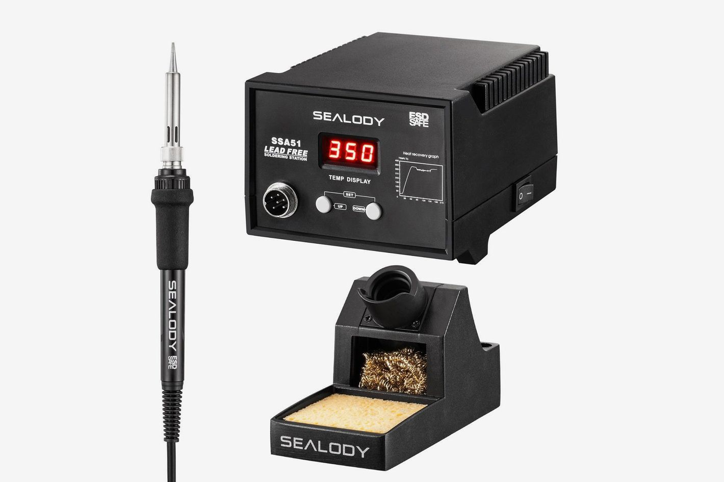 Sealody Digital Soldering Station With Pure Aluminum Soldering Stand