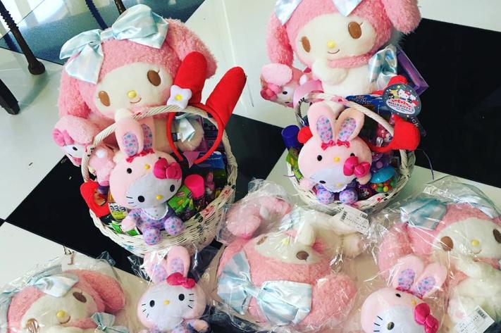 Easter baskets by Kris Jenner. Kris Jenner/Instagram