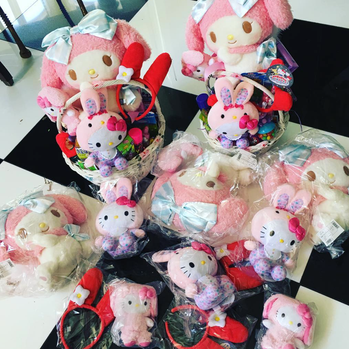 Easter baskets by Kris Jenner. Kris Jenner/Instagram