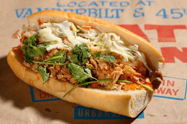 Mayhem & Stout's bánh mì sandwich.