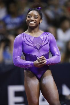 Simone Biles at the U.S. Olympic Gymnastics Trials on July 8.