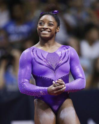 Simone Biles at the U.S. Olympic Gymnastics Trials on July 8.
