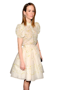 "Sarah Paulson==The Cinema Society with FIJI Water & Levi's present a screening of ""Mud""==MoMA, NYC==April 21, 2013=="