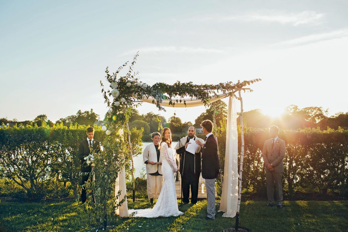 Nymag Real Weddings: - Real Wedding Albums: A Relaxed Backyard Event