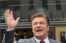 "Alec Baldwin filming on location for ""30 Rock"" on the streets of Manhattan on March 9, 2011 in New York City."