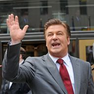 Alec Baldwin filming on location for