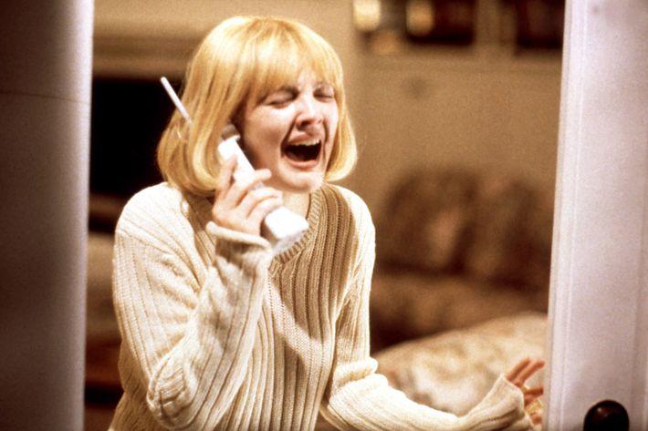 Drew Barrymore in <em>Scream</em>.