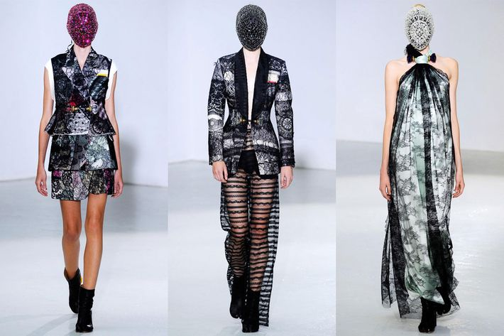 Looks from Maison Martin Margiela's fall 2012 couture collection.