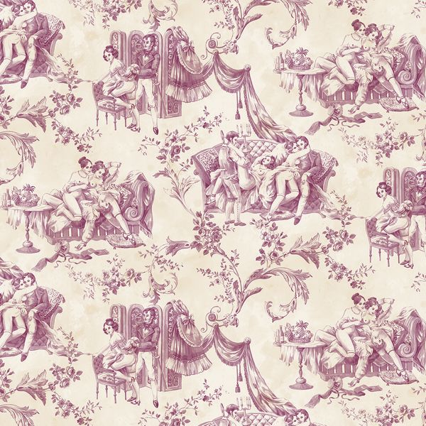 Pascale Risbourg Erotic Toile De Jouy Wallpaper