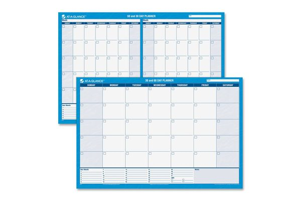 At-a-Glance Undated, Erasable, 30/60-Day Wall Planners