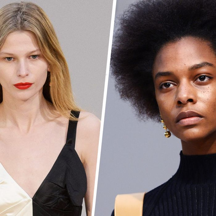 Céline beauty looks.