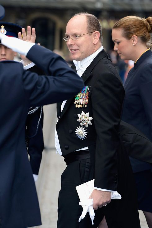Prince Albert II of Monaco departs the Nieuwe Kerk to return to the Royal Palace after the abdication of Queen Beatrix of the Netherlands and the Inauguration of King Willem Alexander of the Netherlands on April 30, 2013  in Amsterdam, Netherlands.