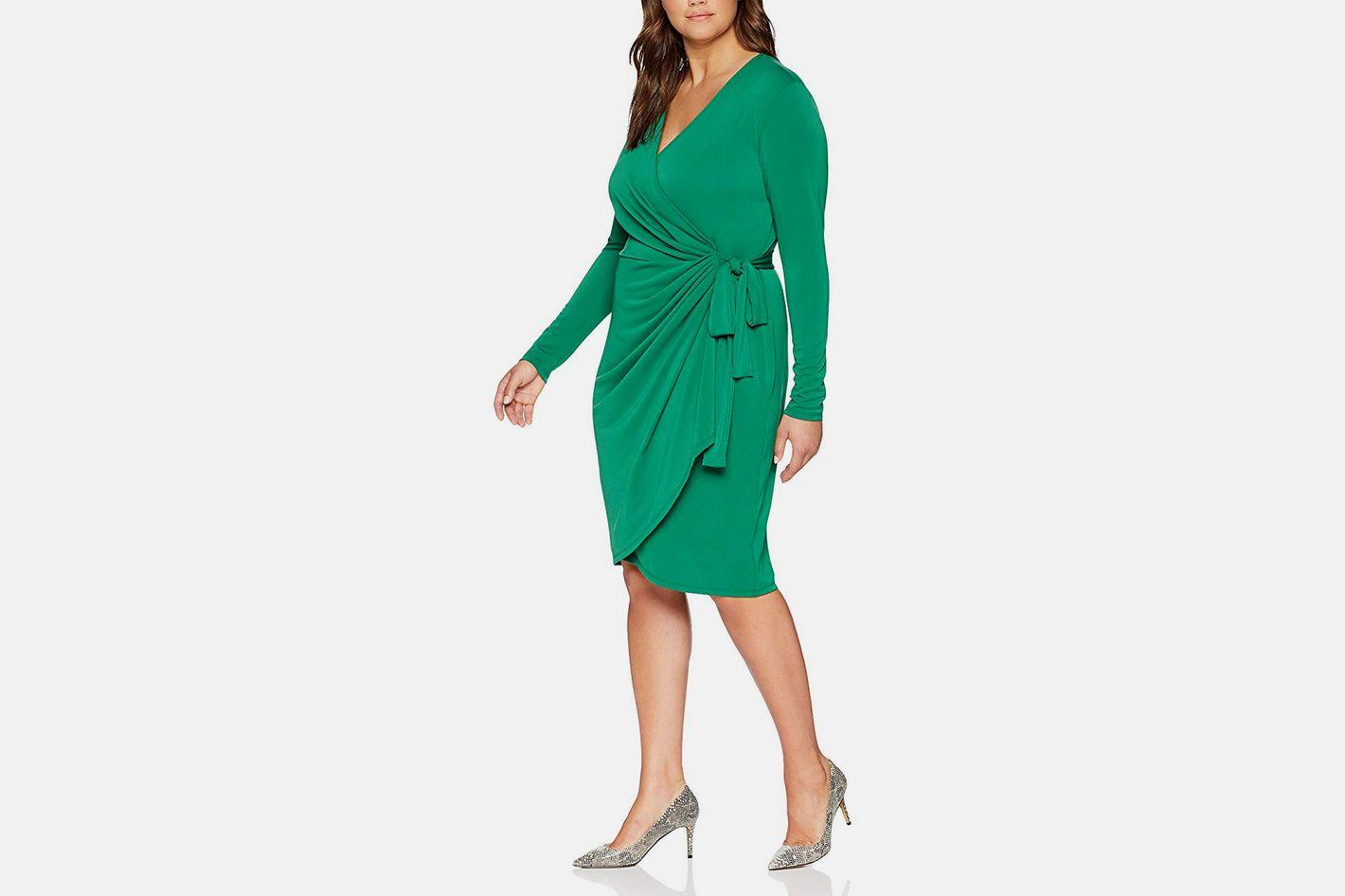 Lark & Ro Classic Long Sleeve Wrap Dress