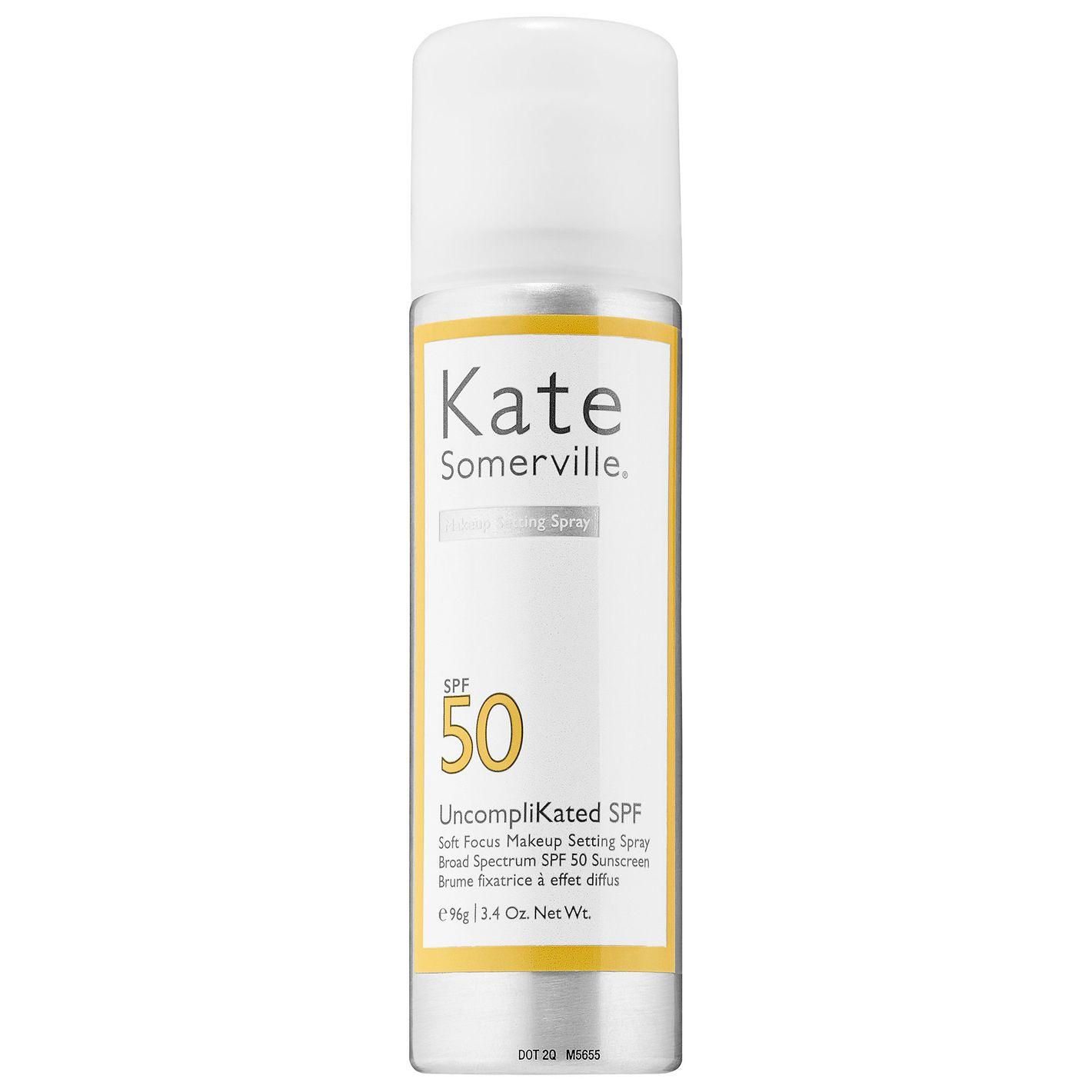 Kate Somerville UncompliKated SPF Soft Focus Makeup Setting Spray Broad Spectrum SPF 50 Sunscreen,