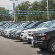 FOREST PARK, IL - AUGUST 04:  Chevrolet vehicles are offered for sale at Currie Motors on August 4, 2011 in Forest Park, Illinois. General Motors, the maker of Chevrolet, reported today earnings of $2.5 billion, an 89 percent increase from the same period last year.  (Photo by Scott Olson/Getty Images)