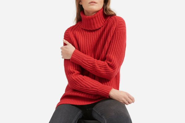 The Italian Soft Wool Rib Turtleneck