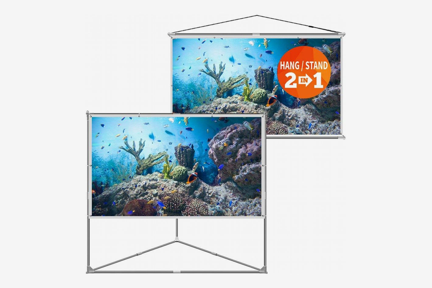 JaeilPLM 100-Inch 2-in-1 Portable Projector Screen