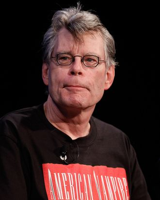 Author Stephen King speaks at the 2010 New Yorker Festival at Acura at SIR Stage37 on October 2, 2010 in New York City.
