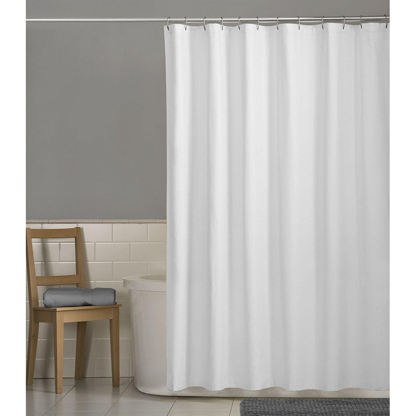 Maytex Water Repellent Fabric Shower Curtain
