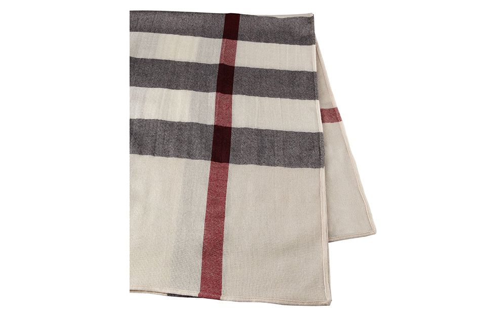 Burberry Lightweight Wool Check Blanket