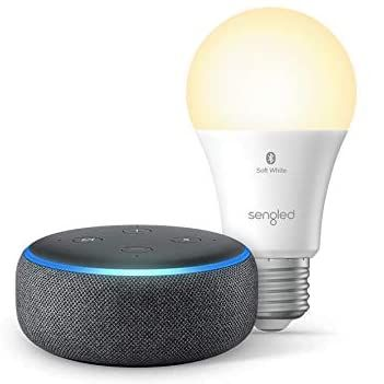 Amazon Echo Dot Smart speaker with Sengled Smart lightbulb