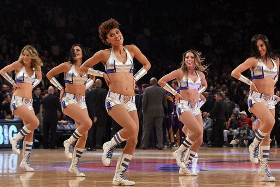 NEW YORK, NY - FEBRUARY 10:  (NEW YORK DAILIES OUT) The 'Knick City Dancers' perform during a timeout against the Los Angeles Lakers on February 10, 2012 at Madison Square Garden in New York City. The Knicks defeated the Lakers 92-85. NOTE TO USER: User expressly acknowledges and agrees that, by downloading and/or using this Photograph, user is consenting to the terms and conditions of the Getty Images License Agreement.  (Photo by Jim McIsaac/Getty Images)