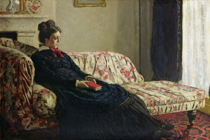 """Meditation, or Madame Monet Sitting on a Sofa,"" by Claude Monet"