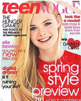 Elle Fanning's <em>Teen Vogue</em> cover.