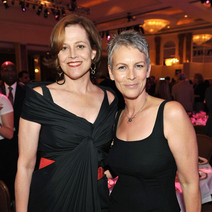 Jamie Lee Curtis and Sigourney Weaver. (John Shearer/Getty Images.)