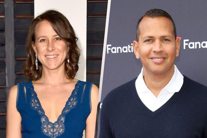 Anne Wojcicki and Alex Rodriguez