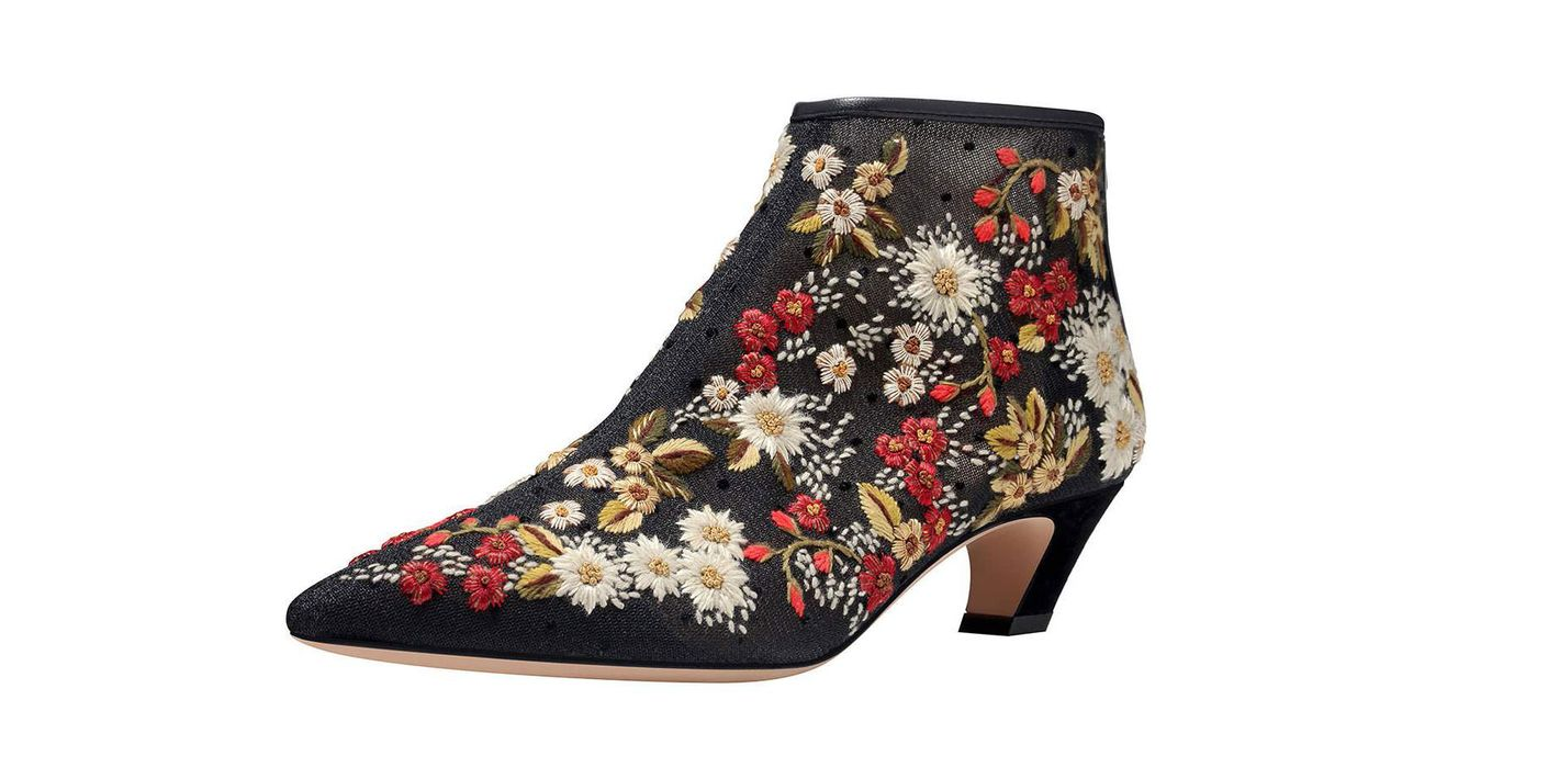Dior Floral Embroidered Boots