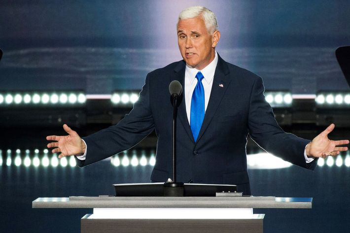 Indiana governor Mike Pence.