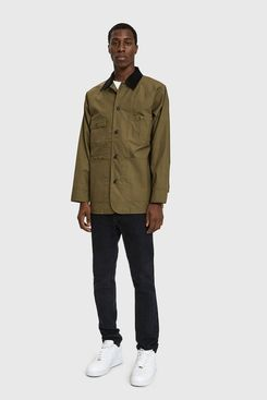 NEED Workwear Cotton Jacket in Dark Olive