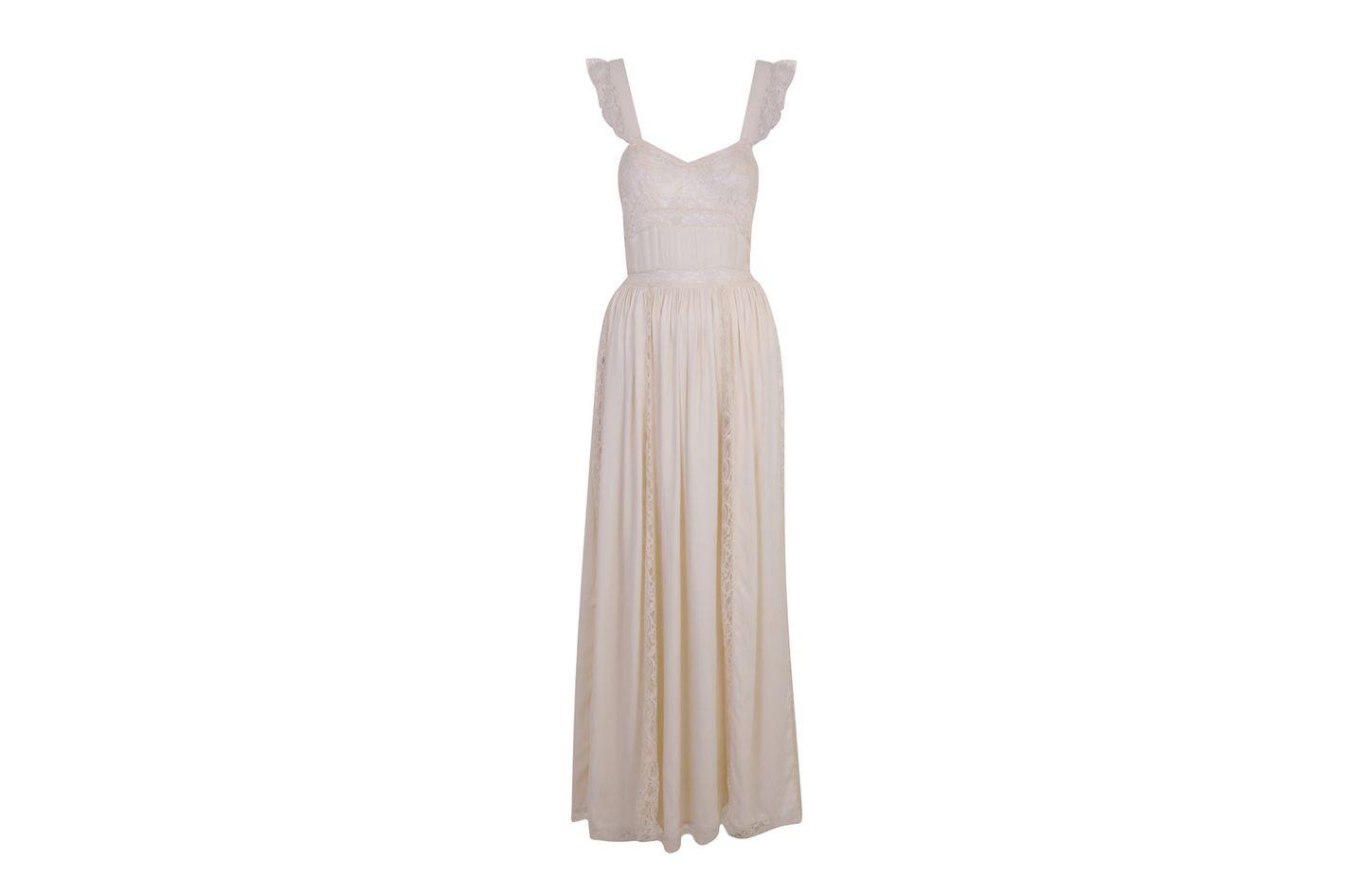 Satin Lace Maxi Dress