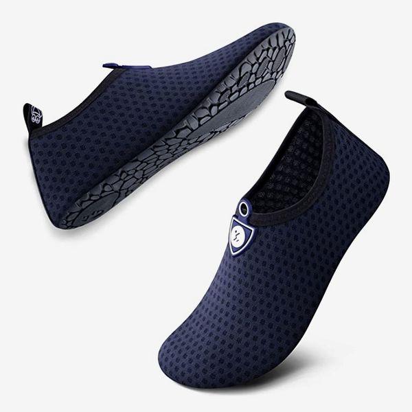 Simari Water Shoes Quick-Dry Aqua Socks, Circular Blue