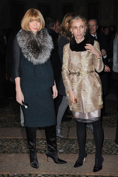 MILAN, ITALY - FEBRUARY 26:  Anna Wintour (L) and Franca Sozzani attend Vogue.it during Milan Fashion Week Womenswear Autumn/Winter 2010 on February 26, 2010 in Milan, Italy.  (Photo by Tullio M. Puglia/Getty Images) *** Local Caption *** Anna Wintour;Franca Sozzani