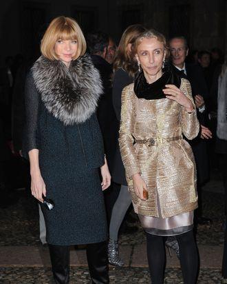 Anna Wintour and Franca Sozzani.
