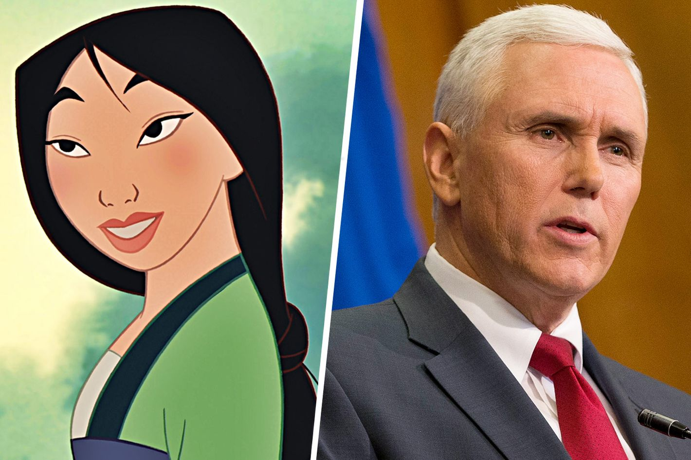 mike pence has some strong feelings about mulan