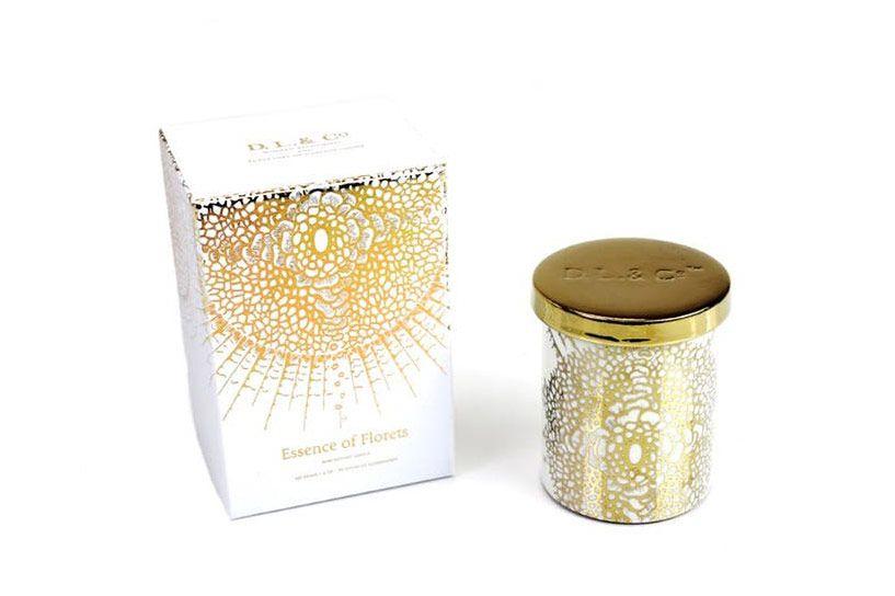 D.L. & CO White Soleil Candle