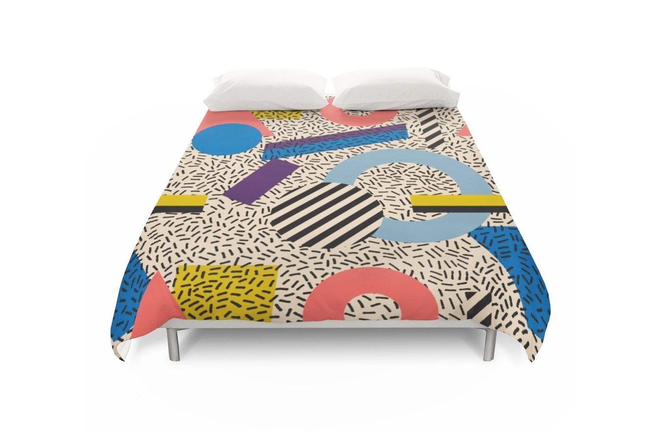 Society6 Memphis-Inspired Pattern 3 Duvet Covers