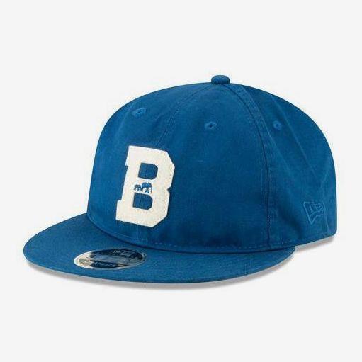 BKc x New Era Felt 'B' Varsity Cotton Cap Seashore Blue