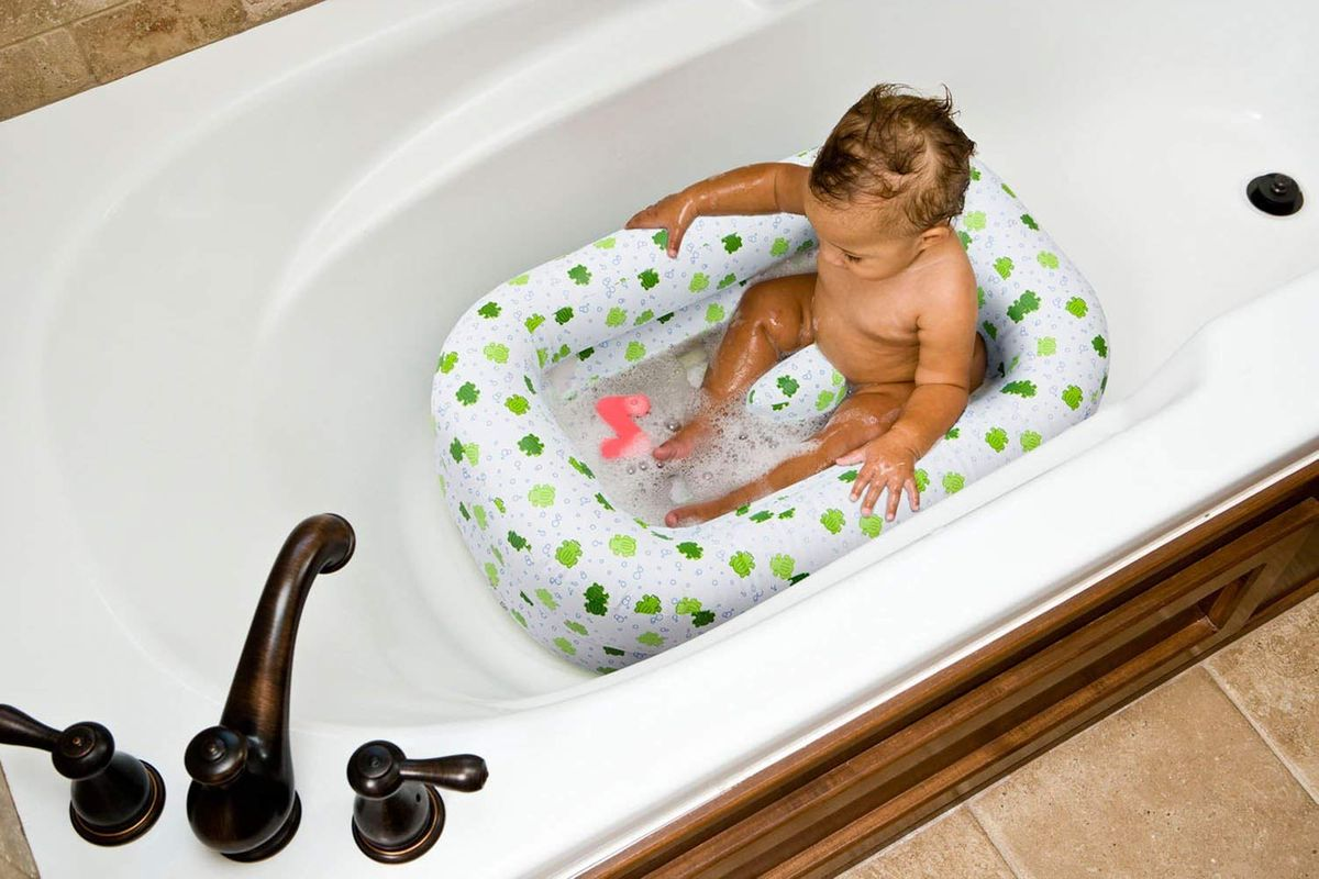 Fast inflate time Inflatable Whale Baby Bath Soft tub Cushions Non-Slip Base for 6 to 30 Months Travel Friendly